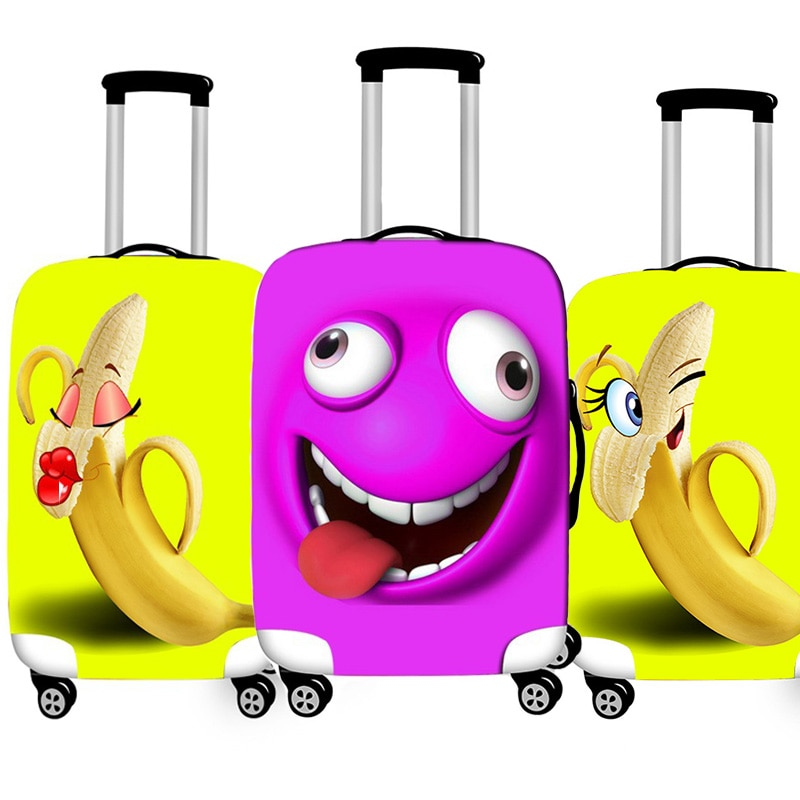 Luggage Cover Funny Banana Protective Sheath Travel Suitcase Cover Elastic Dust Cases Fit 18 - 32 Inches Baggage Accessorie