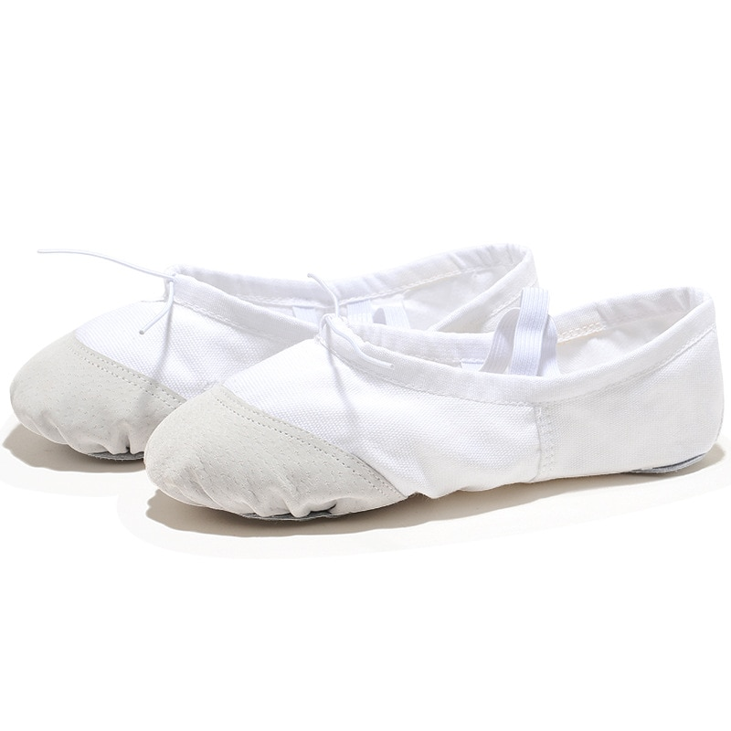 Professional white canvas ballet teacher Zapatos BD ballet shoes dancing for girls ballet shoes dancing ballet shoes children wo