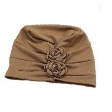 Chapéu de turbante para mulheres chapéu de quimio chapéu de algodão islâmico indiano chapéu de lenço feminino bandana turbantes muçulmano boné de quimioterapia