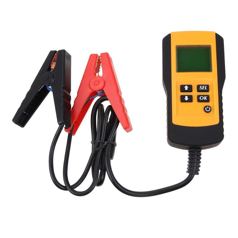 Probador de batería de vehículo de 12V Analizador de automoción pantalla Digital