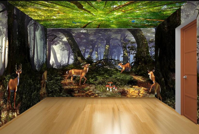 2020 3D papel pintado mural bosque hd móvil fondos de pared sala de estar dormitorio casa completa fondo de pared mural 3d papel tapiz