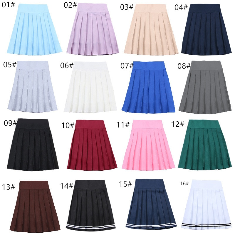Schule Kleider Japanischen Kurzen Rock Cosplay Anime Plissee Rock Jk Uniformen Sailor Anzug Kurze Röcke Schule Mädchen 17 Farben