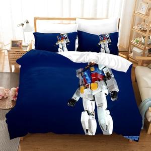 Робот воина гундама; Постельное белье тапочки в виде персонажа аниме одеяло 3D принт роскошные пододеяльник набор текстильный Декор для дома Queen Король Один Размеры