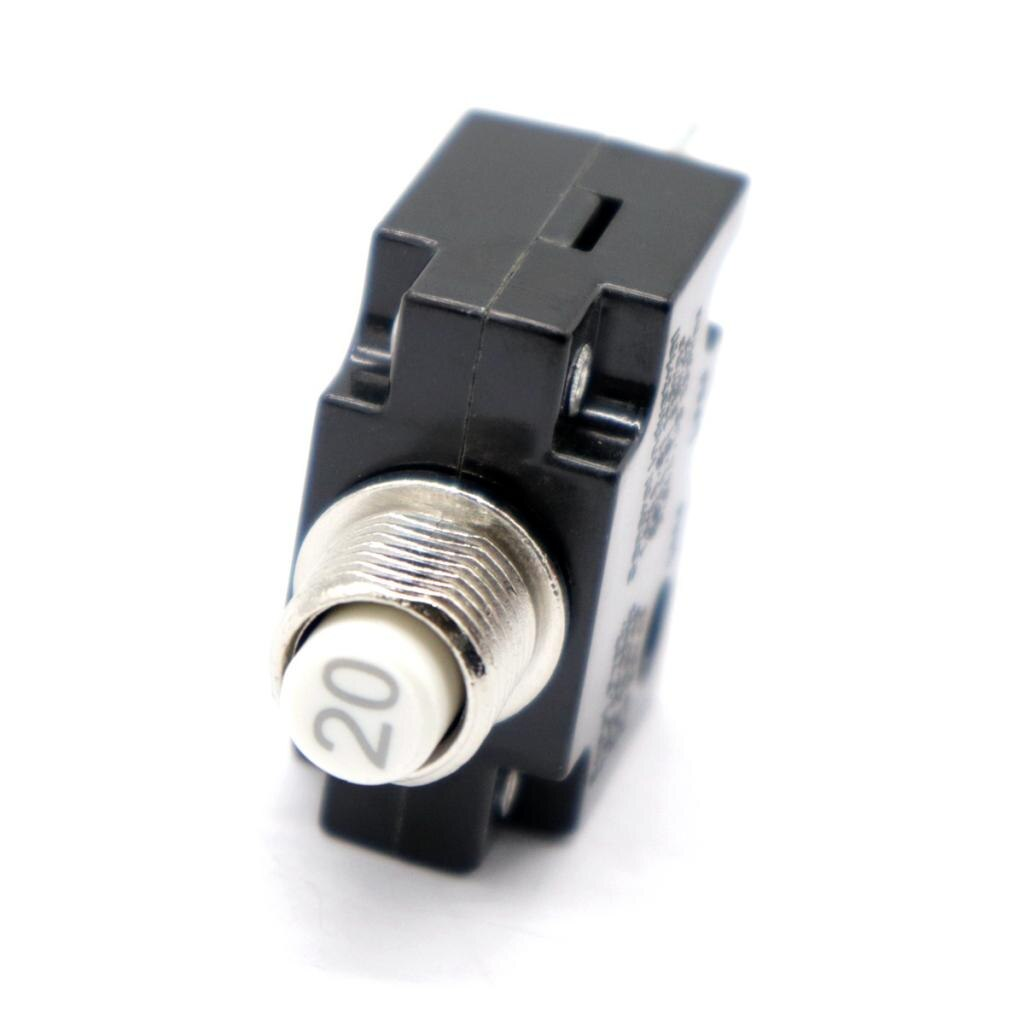 2 unidades de interruptores de botón de 20 Amp con cubierta transparente de botón impermeable, DC 50V AC 125-250V