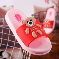 childrens summer cartoon slippers indoor baby soft soled sandals and slippers boys and girls outdoor flip slippers kids kf13