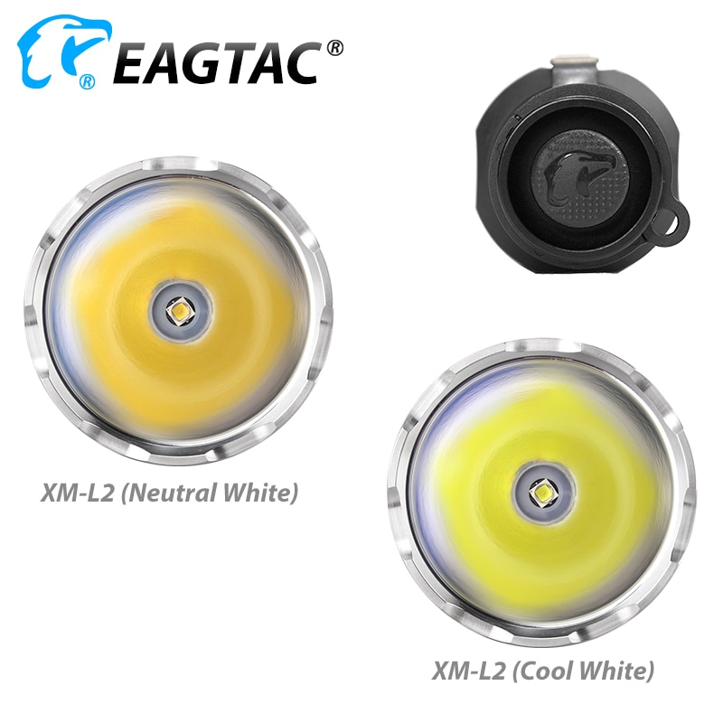EAGTAC M25C2 Turbo Head LED Tactical Flashlight 1180 Lumens 18650 544 Yards Long Throw for Hunting SOS Strobe Momentary On Off enlarge