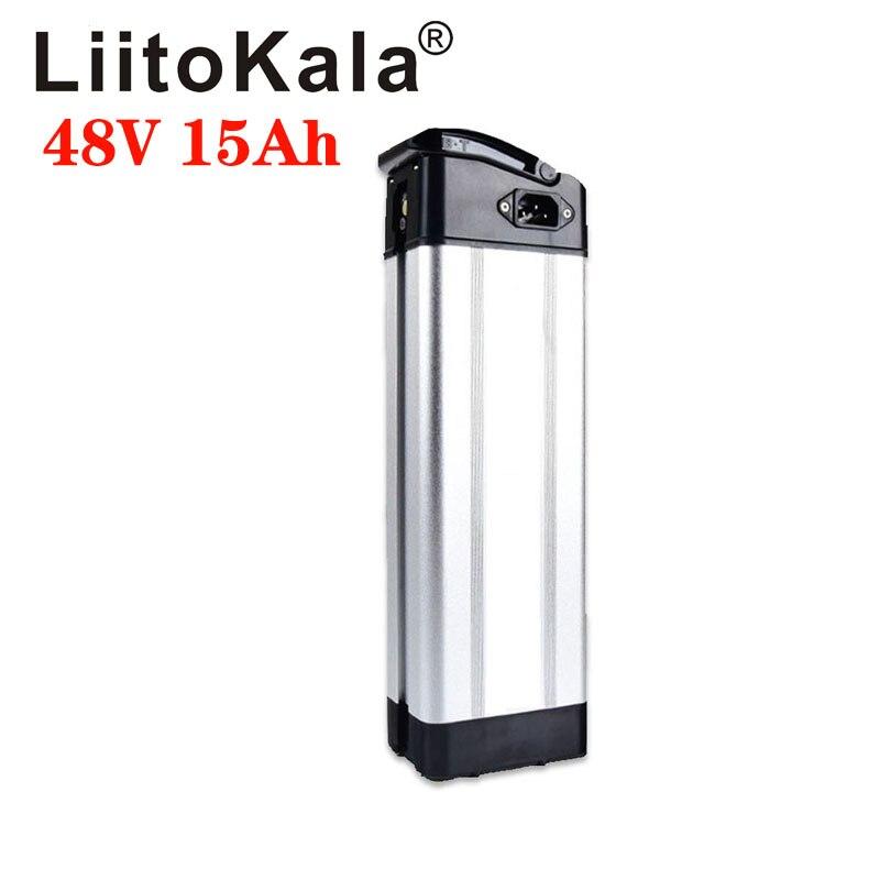 Bateria de Lítio Bateria com 20a Liitokala Inferior Descarga Bicicleta Elétrica Prata Peixe Ebike Bms 48v 15ah