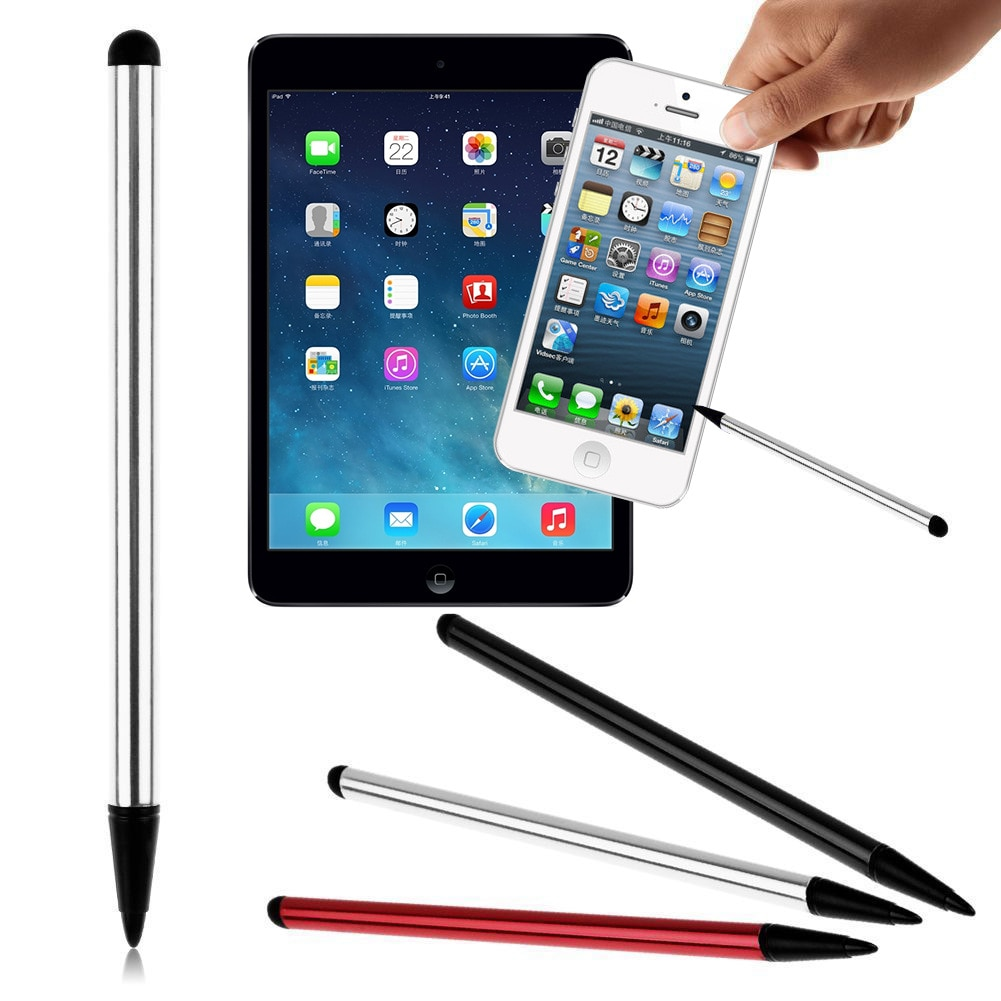 7.0 de dupla finalidade metal stylus tela capacitiva tela resistiva dupla-purpose touch caneta navegação do telefone móvel universal stylus