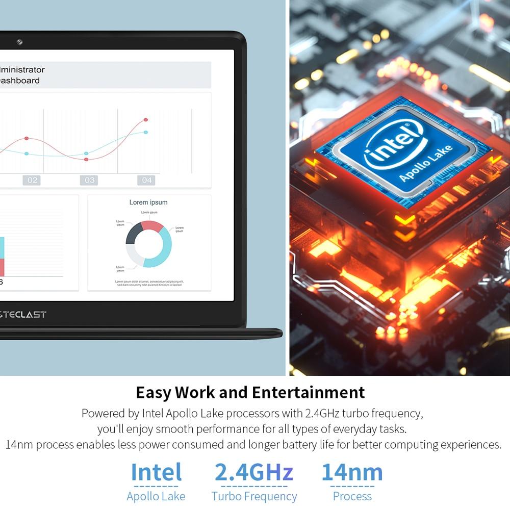 Teclast laptop F6 Notebook Dual WiFi 13.3 Inch Windows 10 OS Full HD 1920×1080 IPS 8GB LPDDR4 128GB SSD Battery 38000mWh