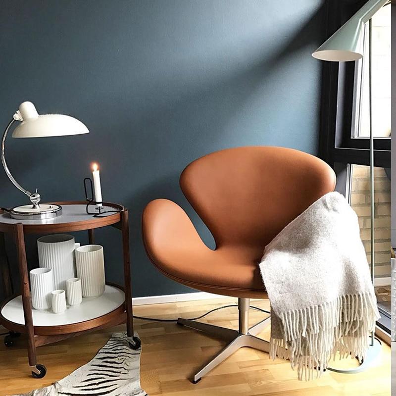 كرسي دوار من البولي يوريثان مع قاعدة معدنية ، غطاء قماش جلدي حديث ، كرسي مكياج الفندق