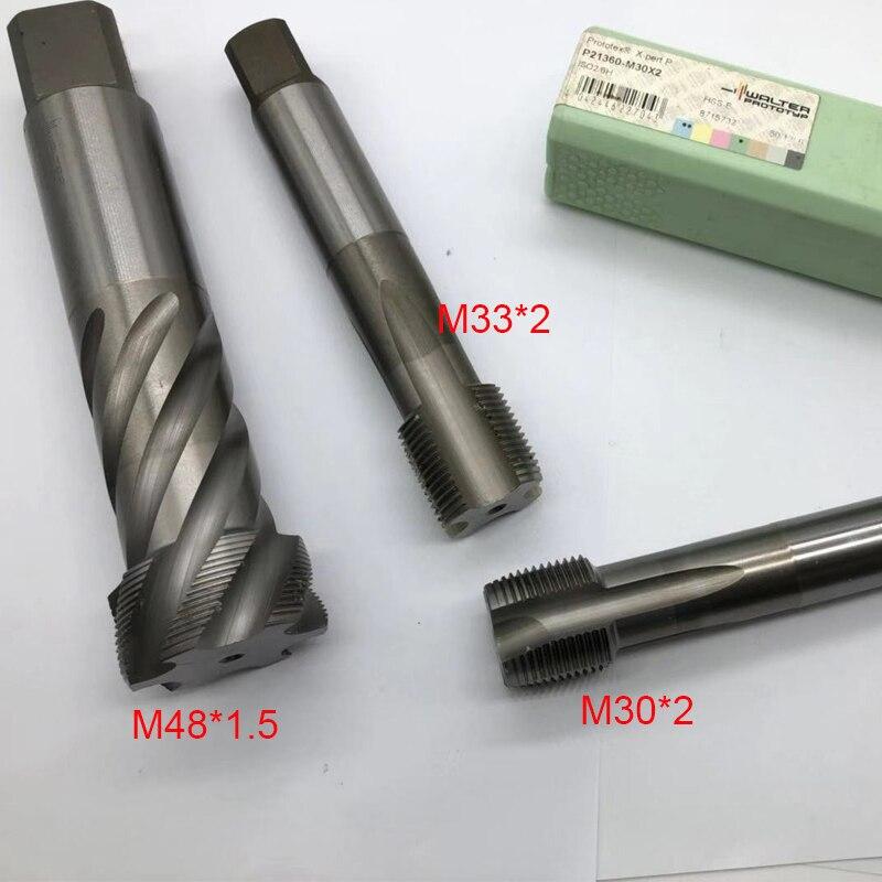 1 pc m33 * 2 m30 * 2 máquina torneira pitch direito reta flauta alta eficiência de corte