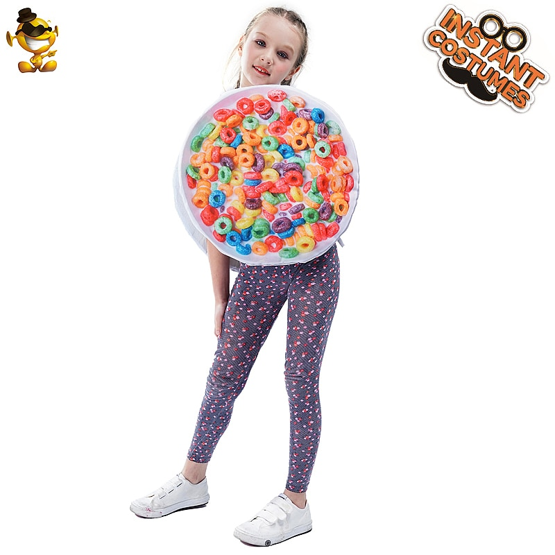 free shipping halloween children s clown costume masquerade performance clothing stage circus clown comedy costume boy cosplay Children  Doughnut Clothing Costume Performance Party Cosplay Boy Colorful  Girl Doughnut Costume