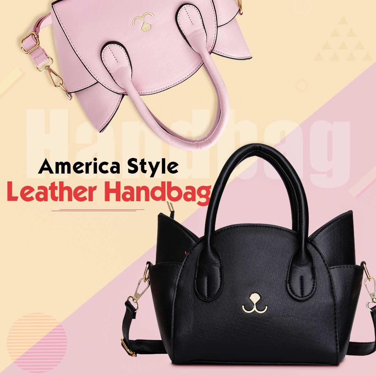 ¡Novedad de 2019! Bonitos bolsos de mano de piel sintética de estilo moderno, bolso de hombro grande con alas, bolso mensajero de gato, bolso de alta calidad