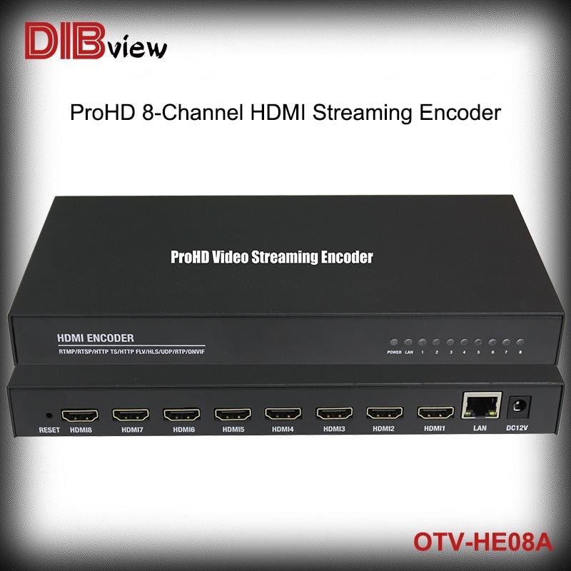 Dibview OTV-HE08A 8-Kanal H264 HDMI Streaming Video Encoder Mit SRT HTTP UDP RTMP Protokoll für IPTV Systeme