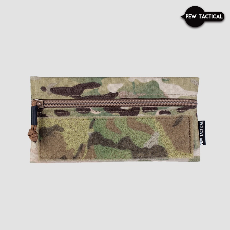 Pew Tactical V3 Half Flap Zipper Admin Pouch Long Style  Airsoft admin