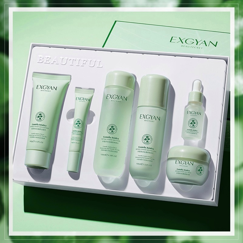 Centella Asiatica Six-piece Box Shrink Pores Moisturizing Refreshing Oil Control Brightening Skin Fi