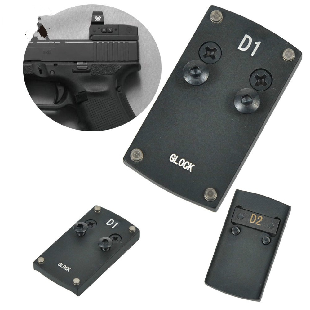 Аксессуары для охоты из пистолета Colt 1911 Glock 17 19 20 22, крепление для рефлекторного прицела, адаптер для Sight Mark Burris Micro Red Dot Scope