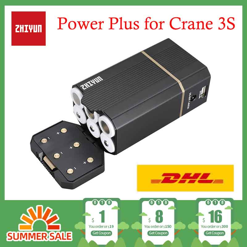 Instock ZHIYUN Power Plus para grúa 3S 3 ejes estabilizador de mano accesorio tipo cardán C4 TransMount PowerPlus Paquete de batería Original