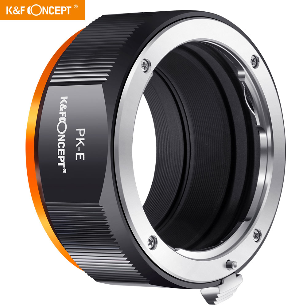 K&F Concept PK to NEX Adapter Lens Mount Adapter Compatible with Pentax K PK Mount Lens and Compatible with Sony Alpha E NEX