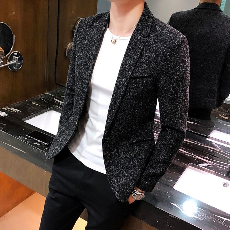 Chaqueta Casual gris ajustada para hombre con diseños de chaqueta Formal para hombre, chaqueta informal con estilo y ajustada, chaqueta clásica con Traje Lentejuelas jjj60xx