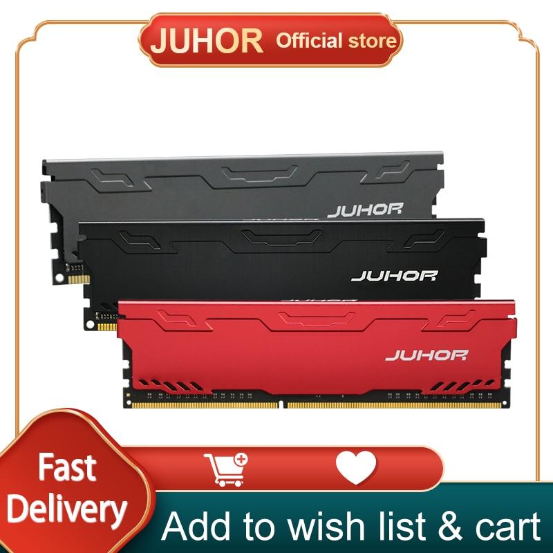 ذاكرة الوصول العشوائي JUHOR Ram DDR4 DDR3 4GB 1600MHz 8GB 2133MHz 2666MHz 2400MHz 16GB 3000MHz ذاكرة الذاكرة Dimm مع بالوعة الحرارة