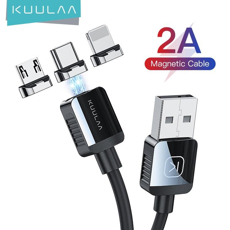 KUULAA-Cable de carga magnético USB tipo C, Cable Micro USB C para...