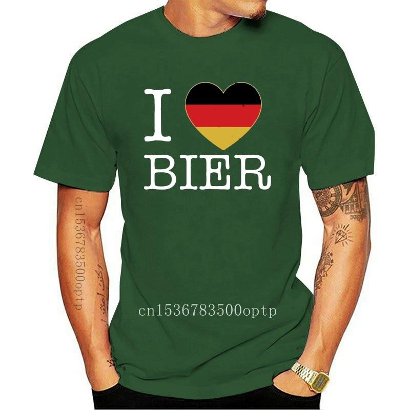 New I Love Bier Oktoberfest German Flag Beer T-Shirt Octobeerfest