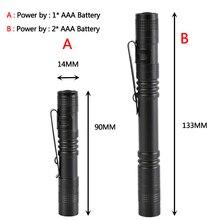Penlight Lantern Torch Led Flashlight Pocket Light Litwod Waterproof 1000lm Shock Resistant,Self Defense Bulbs Q5 Single File