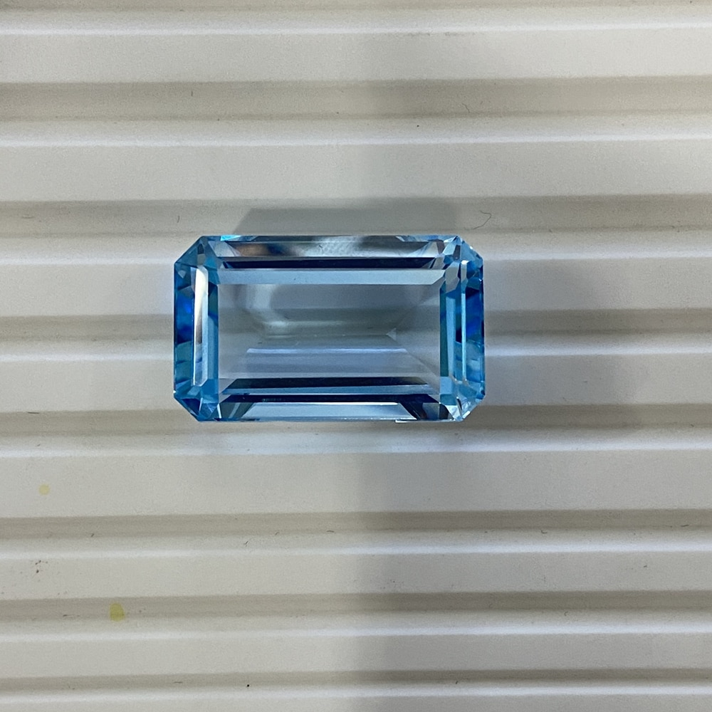Meisidian الزمرد قص 16.5x21x5.8 مللي متر 38 قيراط 100% الطبيعية السماء الزرقاء توباز أحجار كريمة مفكوكة