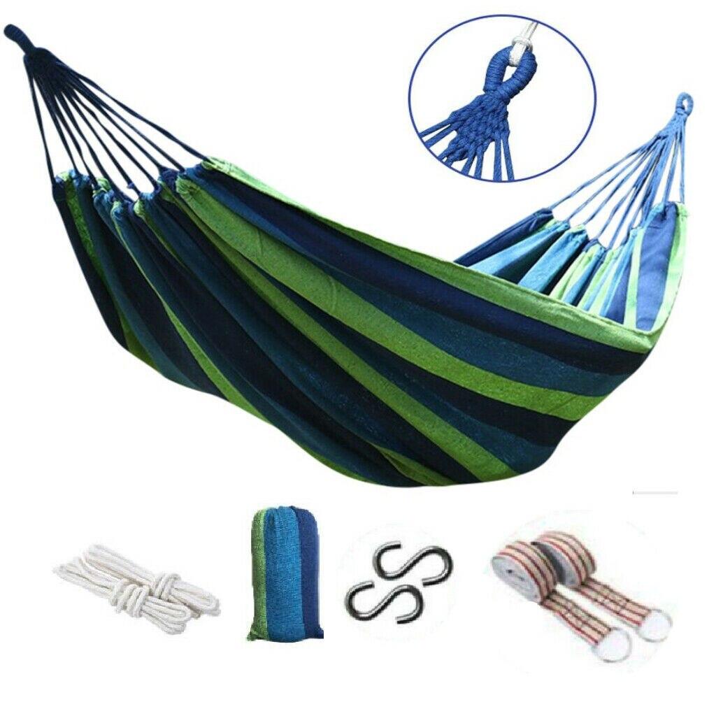 Портативный гамак , подвесные гамаки для сада и отдыха на открытом воздухе, качели для путешествий, кемпинга, подвесная кровать из холщовой ...