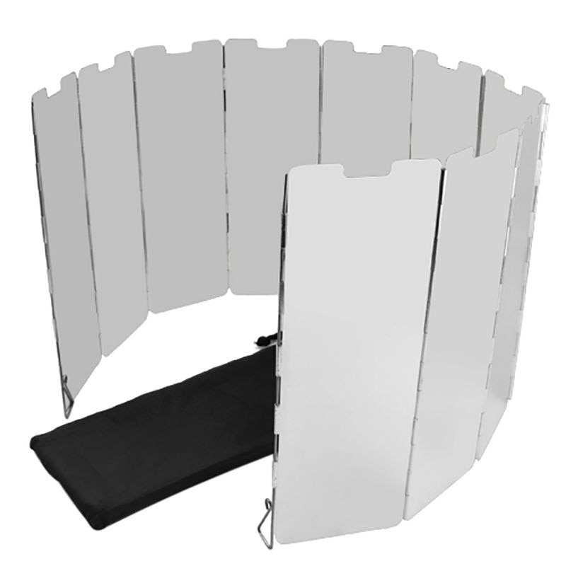 Más Vendidos estufa de Gas útil parabrisas pantalla plegable al aire libre buena oferta 10 placas plegable Camping cocina profesional