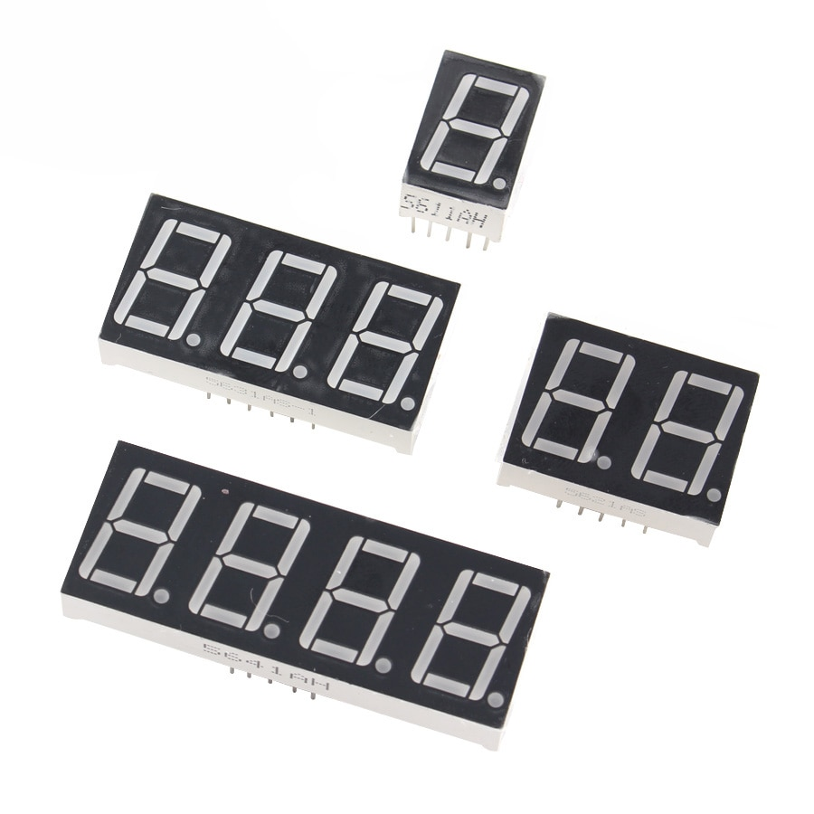 1/2/3/4 бит светодиодный дисплей 7 сегментов 0,56 дюйма общий анод 1/2/3/4 бит 0,56 дюйма трубка Красный общий анод светодиодный цифровой дисплей 7 сег...