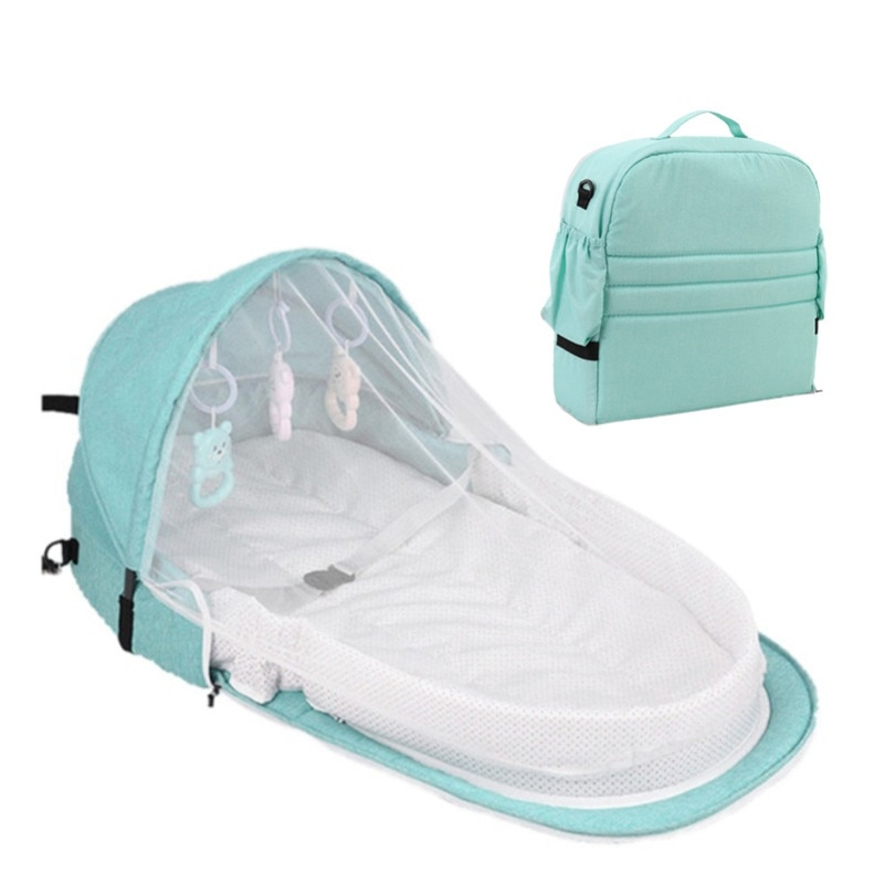 Kids Baby Bed For Newborn Protection Mosquito Net With Portable Bassinet Baby Foldable Breathable Infant Sleeping Basket