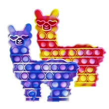 Pop It Llama Push Pop Bubble Sensory Fidget Toys Autism Needs Adult Stress Relief Toy Squishy Anti s