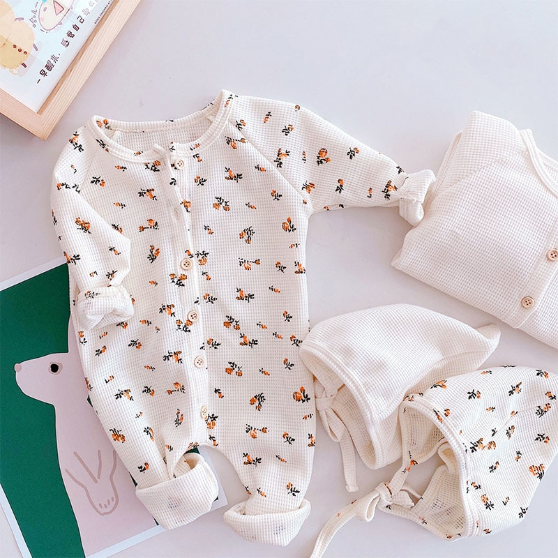 2021 Autumn New Baby Clothes Knitted Long Sleeves Toddle Romper Simple Casual Infant Outfit Infant B