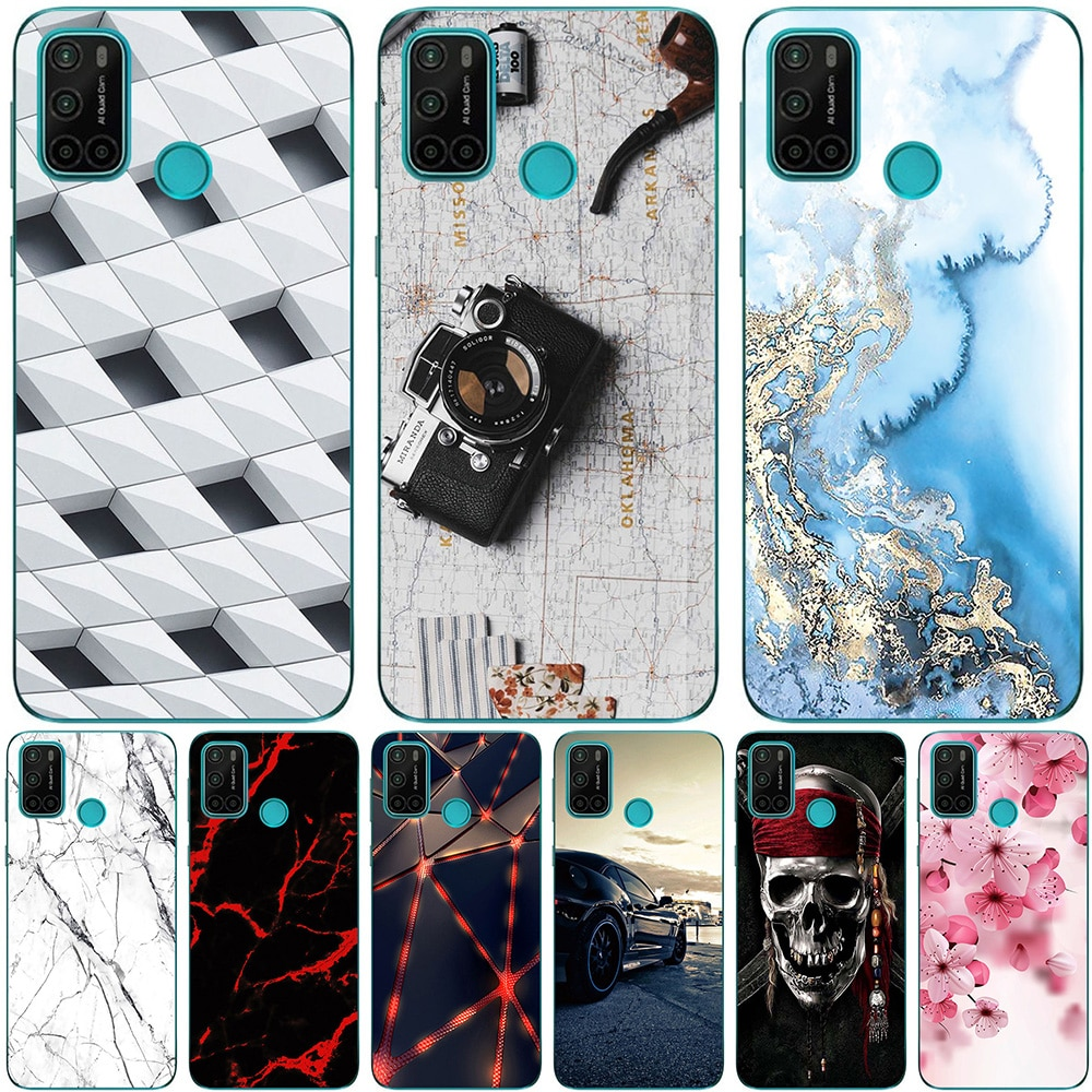 Phone Bags & Case For Vsmart Joy 4 2020 6.53 Inch Cover Soft Silicone Fashion Marble Inkjet Painted