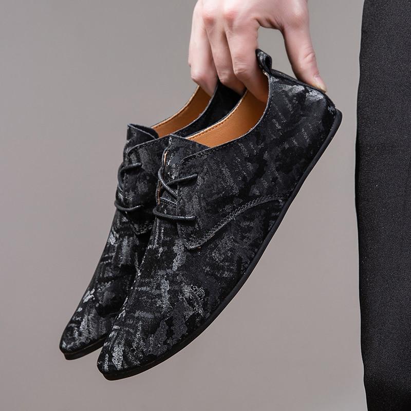 Zapatos couro para hombre, mocasines de piel para hombre, zapatos de zapato...