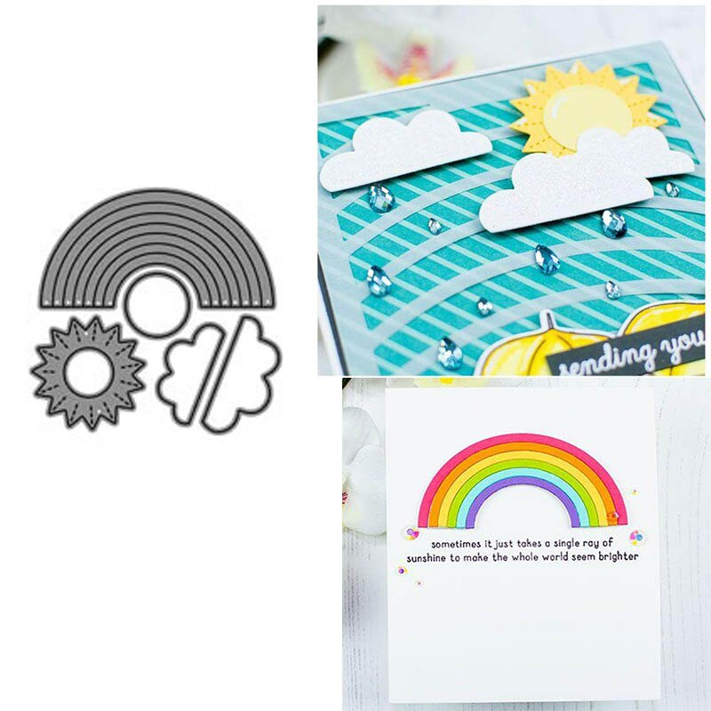 Troqueles de corte de Metal Scrapbooking New 2019 Arco Iris nube troqueles en relieve Plantilla de corte álbum manualidades tarjetas decores