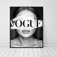 canvas painting fashion girl portrait nordic wall art coco poster prints decoration picture for living room decorative