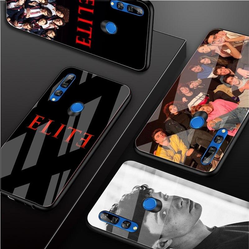 Vidro temperado caixa do telefone espanhol série tv elite para honra 8x 20 30 lite pro 9 10 10i 20i diy arte de luxo
