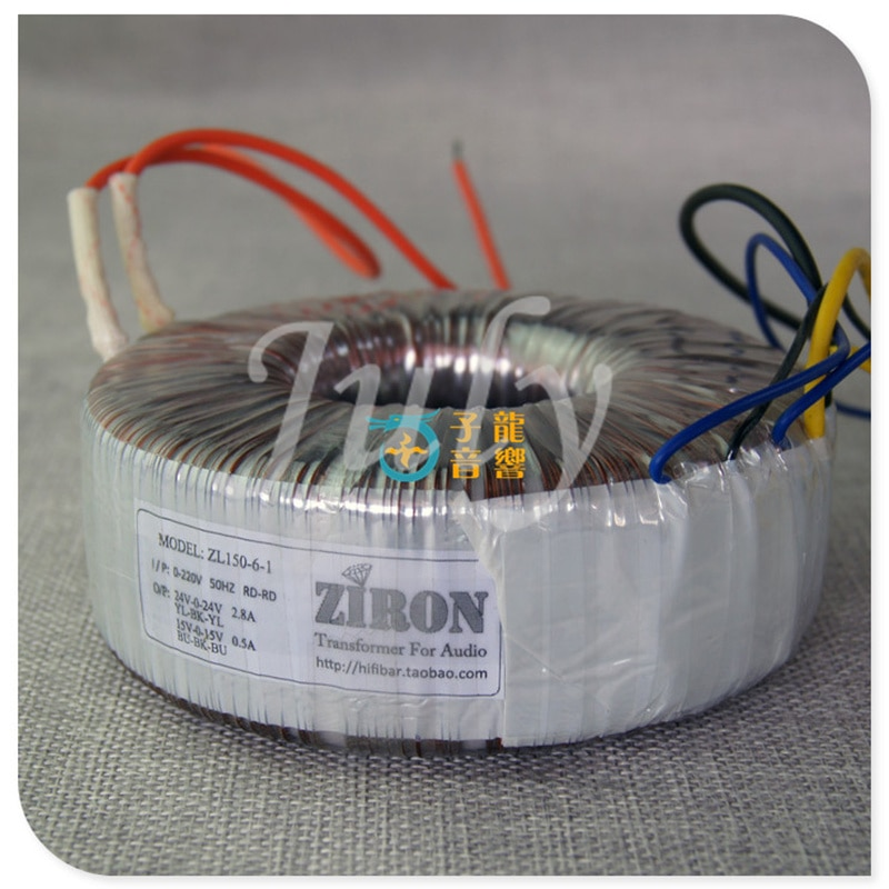 150W pure copper toroidal transformer, dual 24V dual 15V, suitable for LM3886/TDA7293/7294 and other power amplifiers