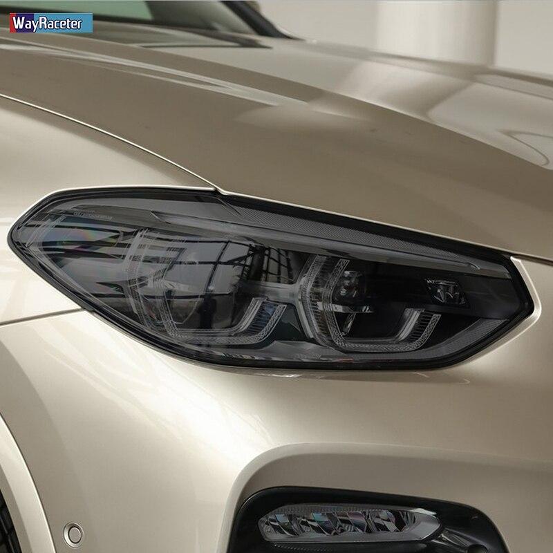 2 uds. Película protectora para faros delanteros de coche Negro transparente TPU adhesivo para BMW X4 F26 2014-2018 M G02 2020 Accesorios