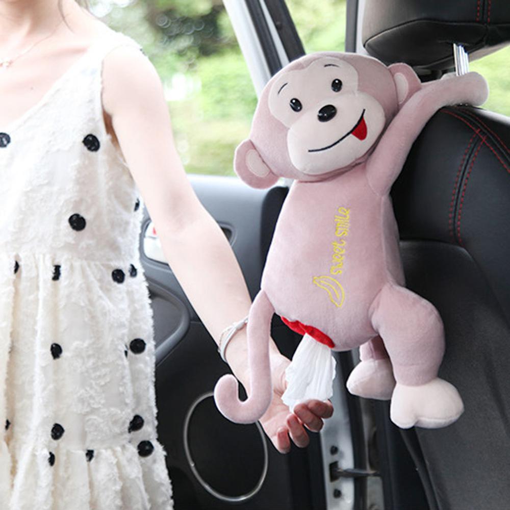 2019 креативная коробка для салфеток обезьяна Пеппи бумажный чехол для салфеток милые Мультяшные животные автомобиль бумажные ящики салфетки держатель Органайзер коробка A40