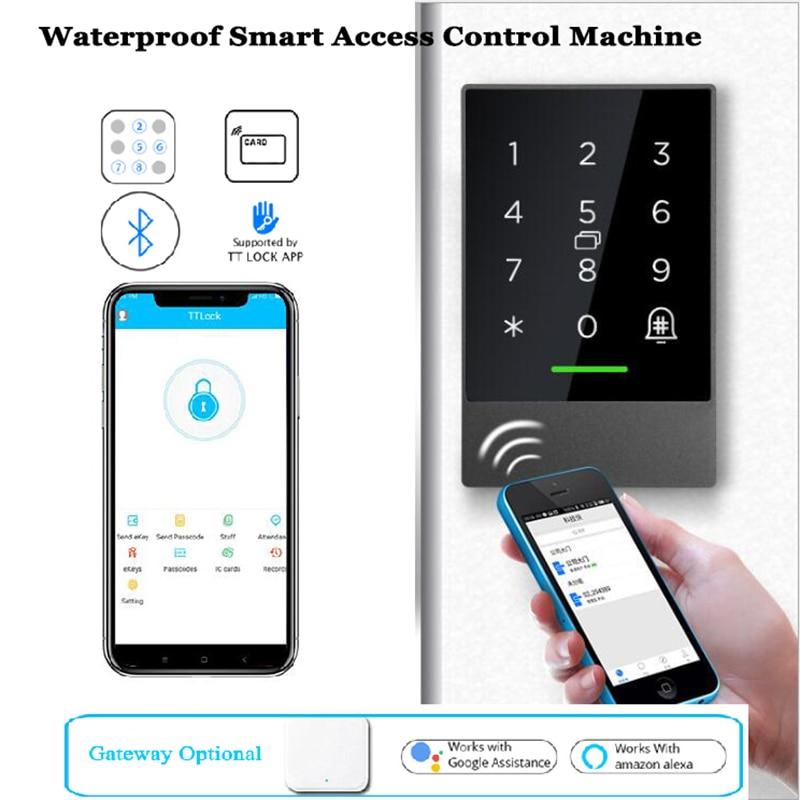 Waterproof Smart Access control machine Wireless Gate Opener TTLOCK Wifi keypad Bluetooth Alexa Goog