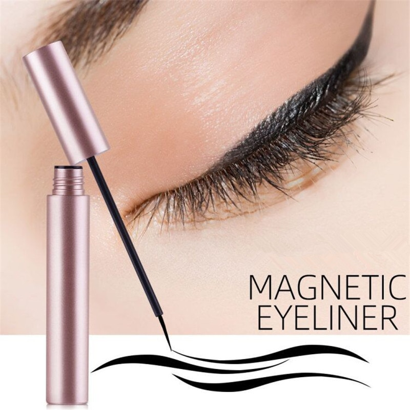 Delineador de ojos líquido magnético de secado rápido fácil de usar delineador de ojos de maquillaje de larga duración impermeable a prueba de sudor para imanes pestañas TSLM1