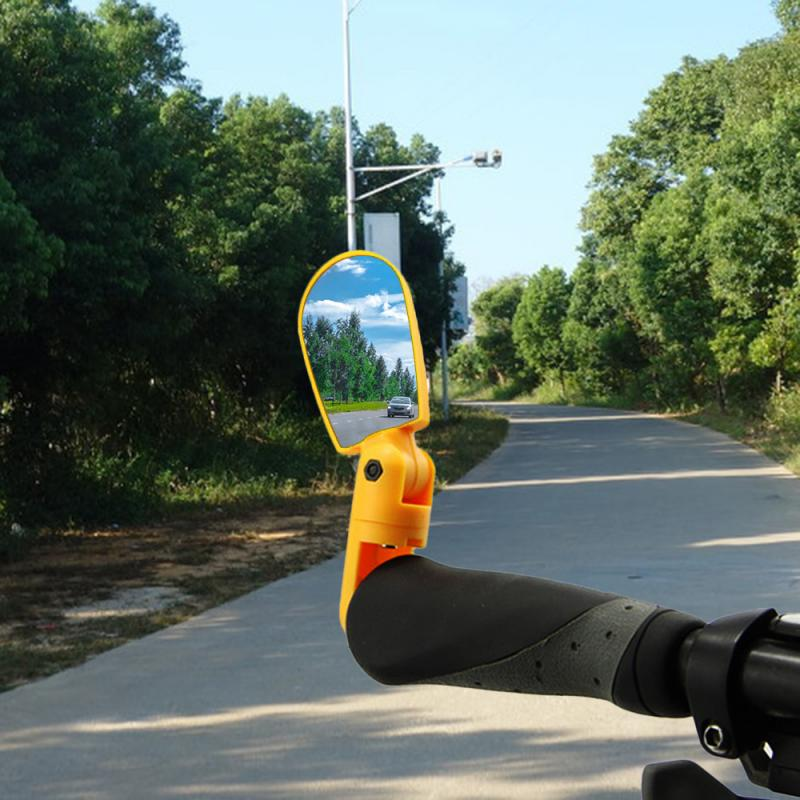 Bicicleta retrovisor 360 graus de rotação guiador espelhos ciclismo vista traseira mtb lidar com espelho retrovisor