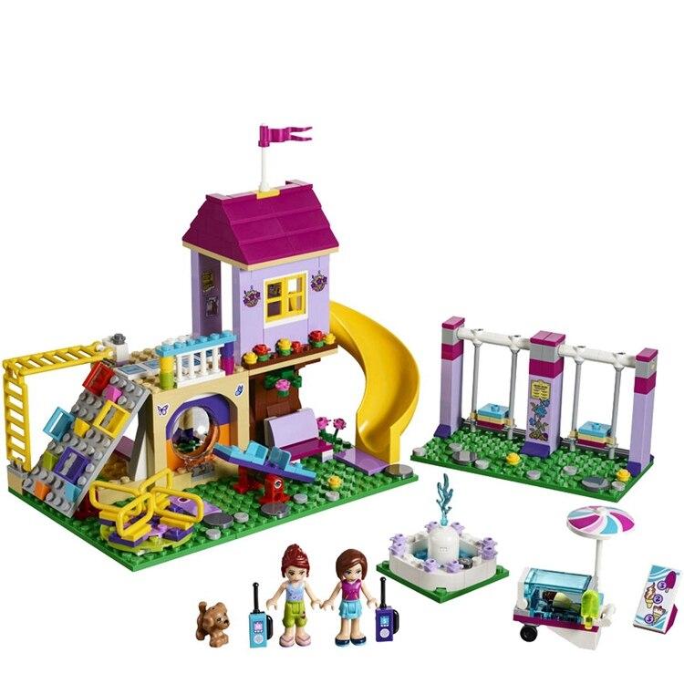 341pcs Girls Lepining Friends Heartlake City Playground Building Blocks Bricks Education Toys For Bela 10774