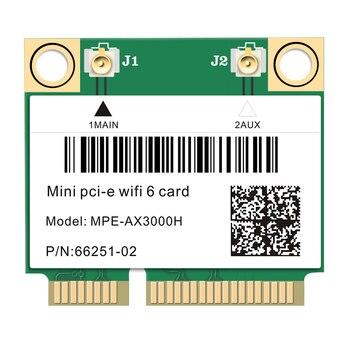 Carte réseau sans fil WiFi 6 mini PCI-Express, connectivité dual-band 2,4 GHz/5 GHz, 2974 Mb/s, Bluetooth 5.0, 802.11 ax/ac, adaptateur MU-MIMO