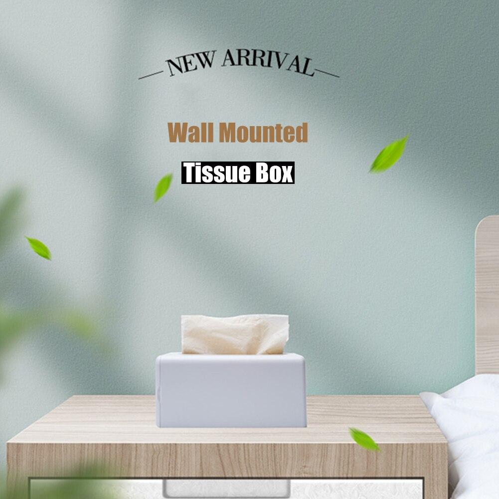 Soporte de papel autoadhesivo para pared, caja de almacenamiento de toalla de papel higiénico para baño, bolsa de basura de plástico, dispensador, recipiente de servilleta