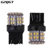 100pcs w215w 50smd car led brake light t20 7443 backup reserve lights stop rear bulb auto turn signal lamp